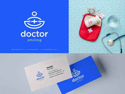 Doctor Smiling Logo fashionjewelry naturedesign uiuxdaily oceanworld logodaily logolove healthcare landing page best doctor logo medical app healtcare logo clinic logo medical logo hospital logo rimongraphics doctor smiling logo