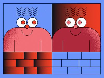 Brick Fence Friends hi friend brick