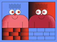 Brick Fence Friends