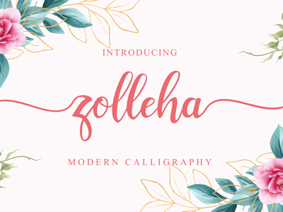 Zolleha    Modern Calligraphy painted hand crafted beautiful design awesome fashion typography logotype branding hand-lettered font logo lettering best font script