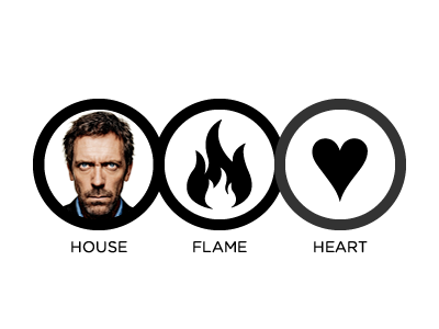 House, Flame, Heart kristina