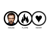 House, Flame, Heart