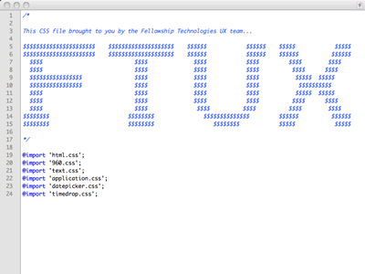 Fellowship Tech UX ASCII ascii most-beautiful-thing-ever