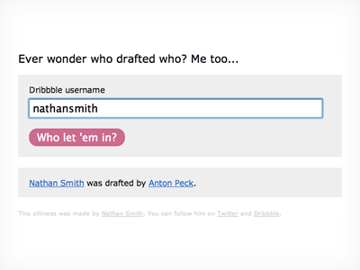 Who Drafted Who? api
