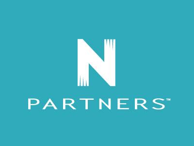 N Partners Identity (Block White) identity brand logo wordmark