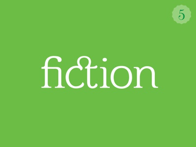 Fiction typography type ligatures