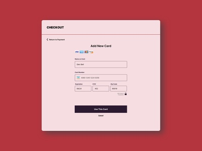 Daily UI, Day 2 – Payment Form pink form dailyui credit card payment