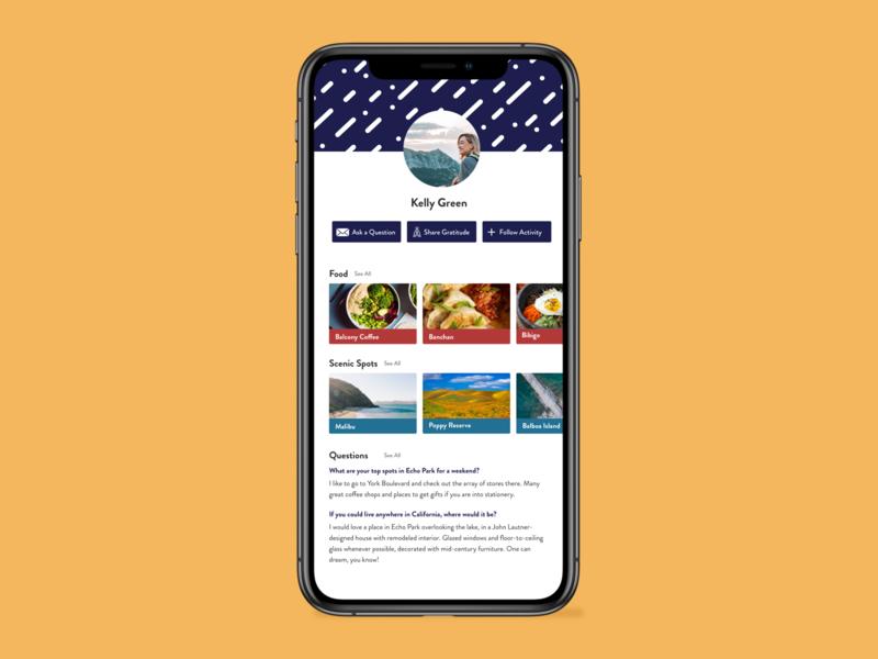 Daily UI, Day 6 – User Profile design ui dailyui