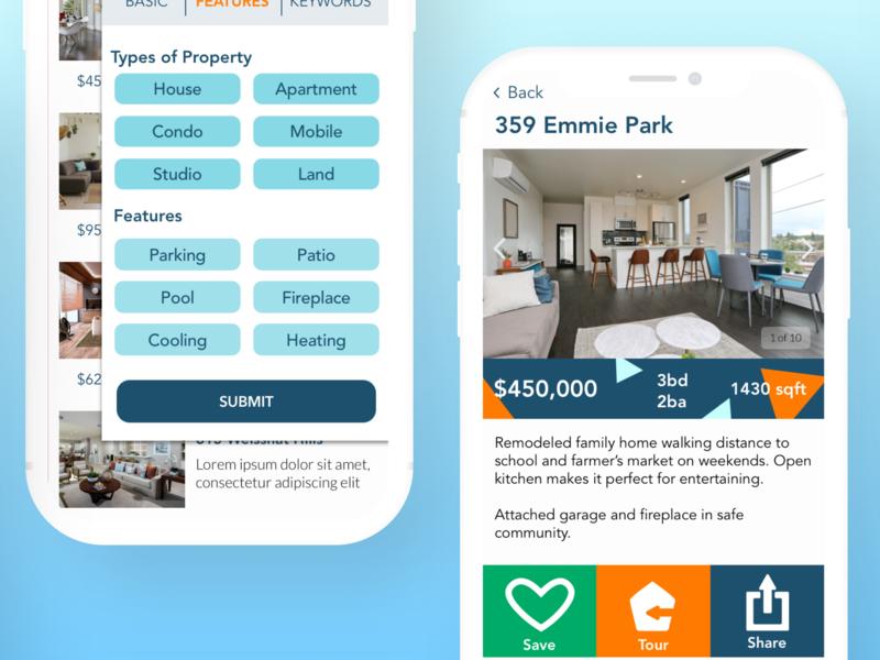 House House Home Web App real estate web app app ux design