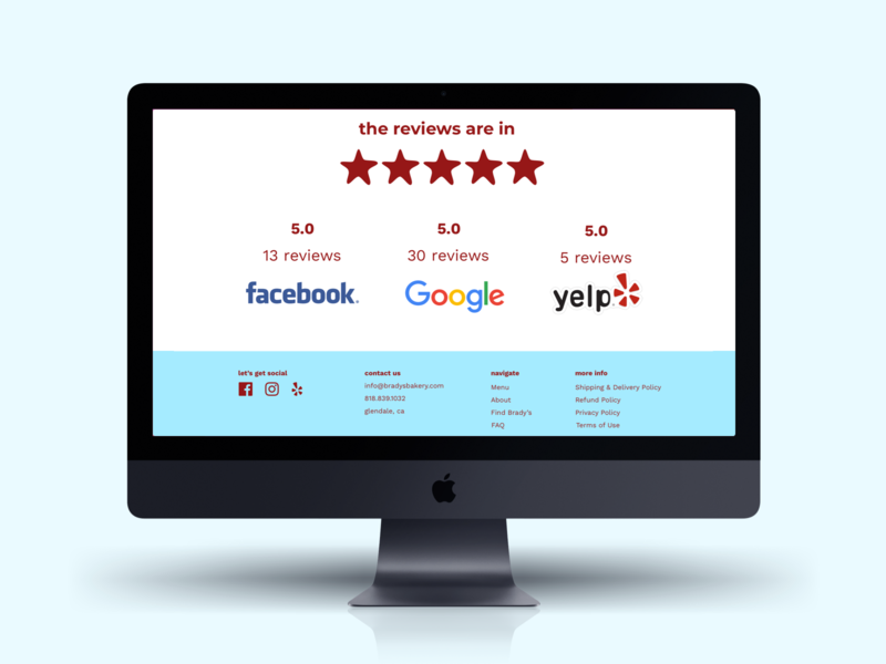 Star Rating ecommerce business footer rating review ecommerce bakery