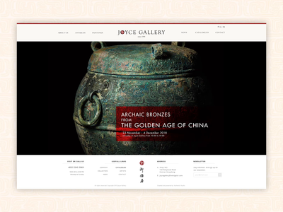 Smooth scrolling antiques timeline for Joyce Gallery