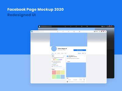 Facebook Page Mockup Template 2020 Latest Redesign website template web ux redesigned 2020 affinity designer affinity photo affinity mockup template mockup ui facebook