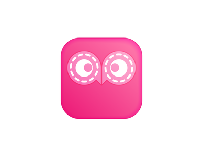 Owl Reels girl hoot owl ios app icon feminine pink fun cute