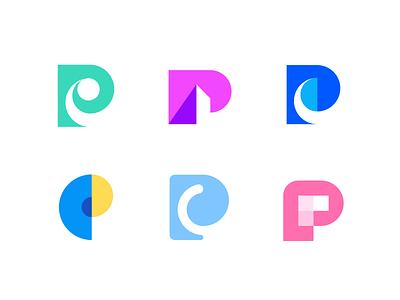 Procreate logofolio logo collection graphic design p letter logo p letter p exploration p logos brand agency minimal logo logo design logo design branding agency branding app logo abstract logo