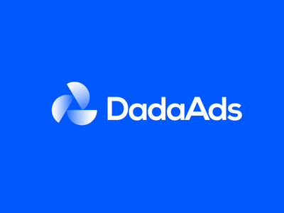 DadaAds logo graphic design logo design agency logo designer minimal brand luxury brand minimal a logo d logo logo design digital marketing app logo branding agency branding abstract logo