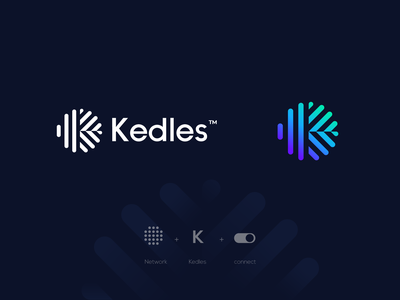 Kedles logo design agency gradient minimal logo brand identity tech logo tech company identity toogle connect network logo design logo minimal brand branding agency app logo branding abstract logo