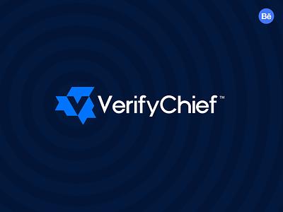 VerifyChief negative space minimal luxury brand connect network logo design agency v letter v logo tech logo minimal brand logo branding agency branding app logo abstract logo