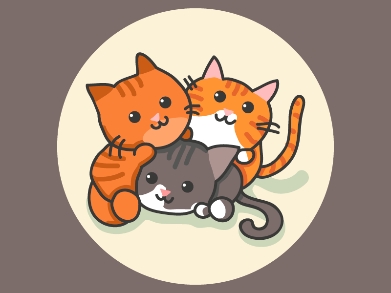 Logo for 3 cats graphicdesign logodesign catlogo kitty truestory instagram logo cats