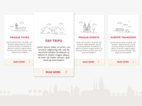 Travel Site Category Cards
