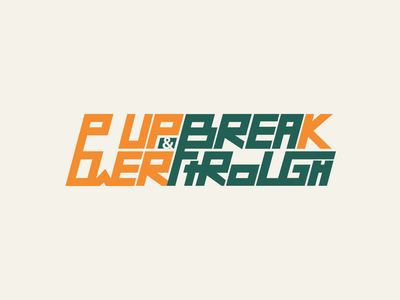 Powerup logo design logodesign lettering type typography airplane icon vector branding illustration logo design