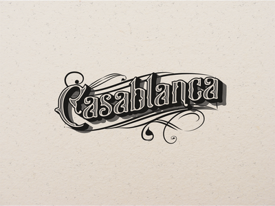 Casablanca vintage lettering retro design retro vintage logo vintage typography design handlettered handlettering lettering typography branding illustration vector design handmade font handmadetype
