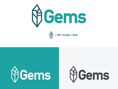 NF Gems logo logo design icon design vector illustration branding logo gemstone crypto currency cryptocurrency