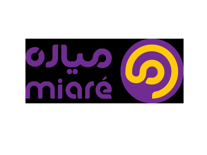 MIARE , delivery service app icon typography branding logo