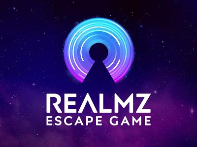 Realmz Escape Game Logo vector brand identity illustration branding visual identity brand escape game logo