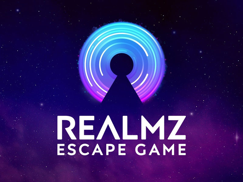 Realmz Escape Game Logo vector brand identity illustration branding visual identity brand escape game logo