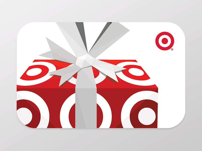 Target Gift Card gift target bow illustration present gift card geometric polygon