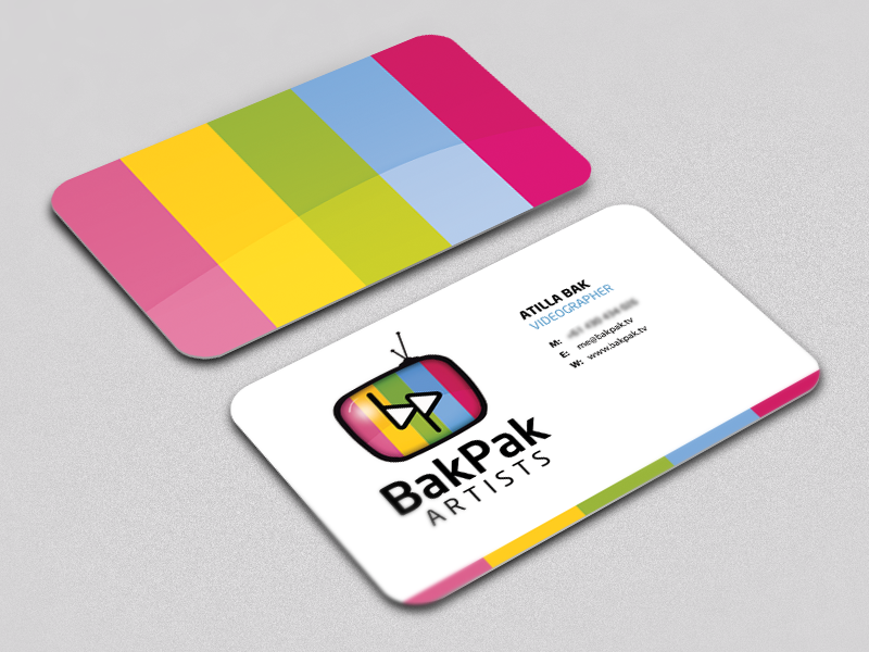 BakPak Artists - Business Card by Randall Lynton - Dribbble