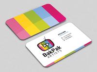 BakPak Artists - Business Card