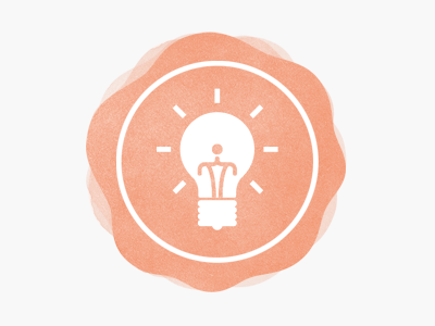 Blog Icon lightbulb blog symbol icon watercolour light
