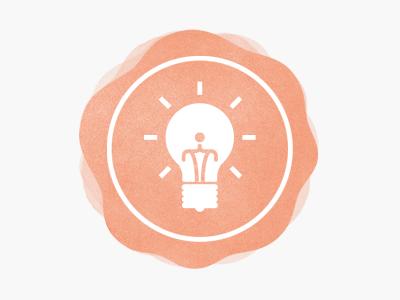 Blog Icon lightbulb blog symbol icon watercolour light