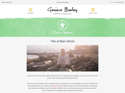 Email Newsletter chiro email health marketing branding newsletter icon yoga