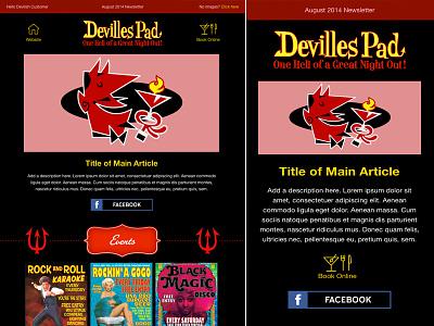 Email Newsletter Design marketing email newsletter html emails devil design illustration responsive