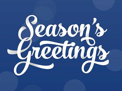 Season's Greetings font type script ribbon depth season greetings holiday