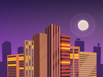 Grow Your Business buildings cityscape vector 2d illustration animation