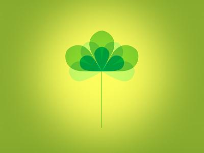 Three Leaf Clover vector illustration petal leaf clover animation