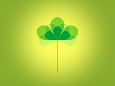 Three Leaf Clover vector illustration petal leaf clover animation