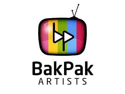 Bakpak Artists Logo videographer television icon vector tv branding identity logo