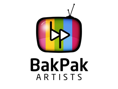 Bakpak Artists Logo videographer television icon vector tv branding identity logo