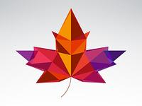 Geometric Autumn Leaf