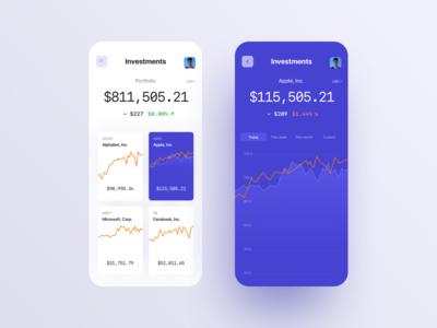 Financial App UI fintech finance app ux ui design
