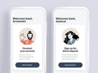 Card Template UI template design mobile app cards ui ux ui design
