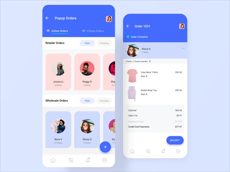 eCommerce Admin UI ux ui mobile ecommerce app design app admin template