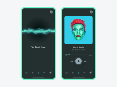 Voice Music App UI