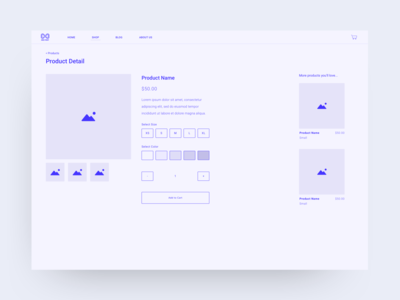 Product Detail Wireframes wireframes ecommerce ux ui design