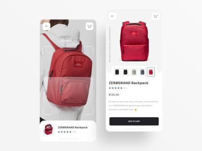 Product Scan UI ecommerce mobile app ux ui design