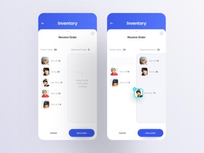 Inventory Management UI admin template ecommerce mobile app ux ui design